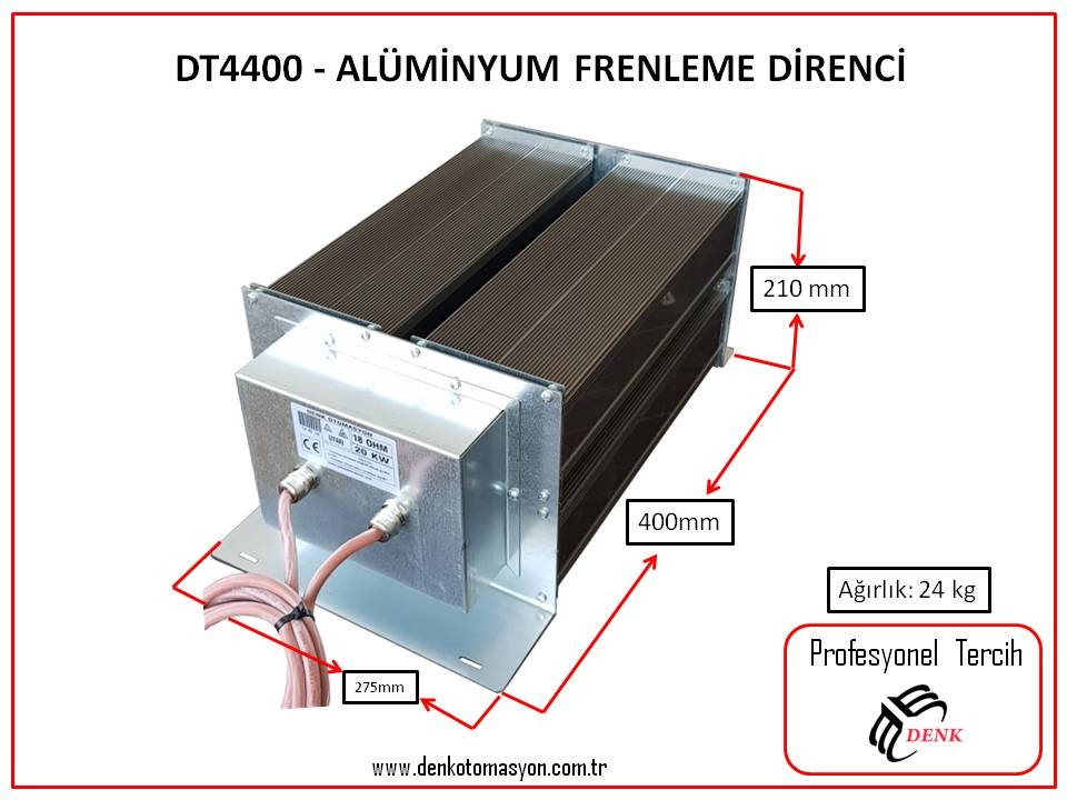 DT4400 - ALÜMİNYUM FRENLEME DİRENCİ